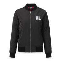 Bomber jacket black/white