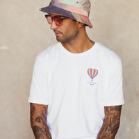 Lets Get High Unisex T-shirt white/blue/red
