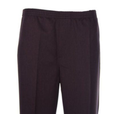 Luigi Morini elastic pants Amberg dark brown size 30