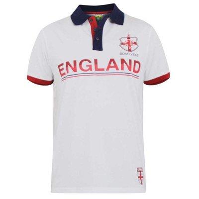 Polo shirt Engeland wit 3XL