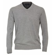 Casa Moda V-neck sweater 004430/713 gray 5XL