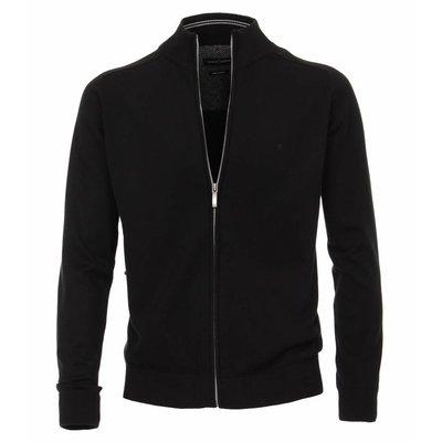 Casa Moda Cardigan vest 004450/800 Zwart 4XL
