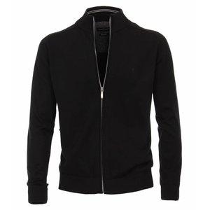 Casa Moda Cardigan vest 004450/800 Zwart 3XL