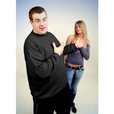 Honeymoon Sweatshirt 1000-90 antraciet 3XL