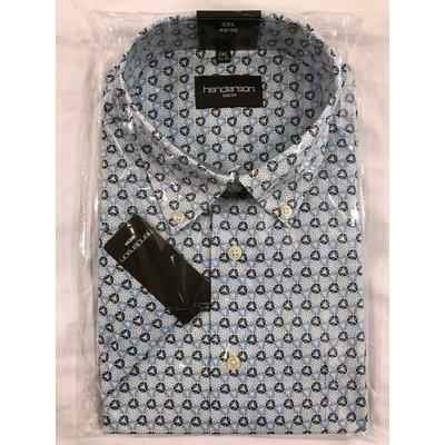 Henderson 5060-600 aqua blauw patroon 2XL