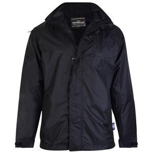 KAM Jeanswear Regen jas KVS KV01 zwart 8XL