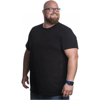 Alca T-shirt black 7XL