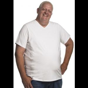Alca T-shirt white v-neck 4XL