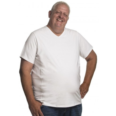 Alca T-shirt wit v-neck 7XL
