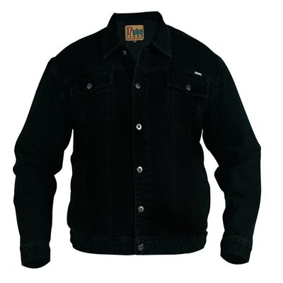 Duke/D555 Jeans Jacket demin black 130110 6XL