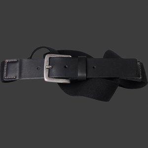 Black elastic belt North 99006 / size 145 cm