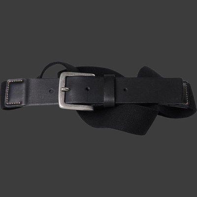 Black elastic belt North 99006 / size 160 cm