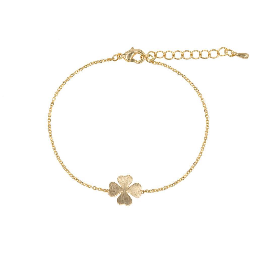 Armband - Kleeblatt gold