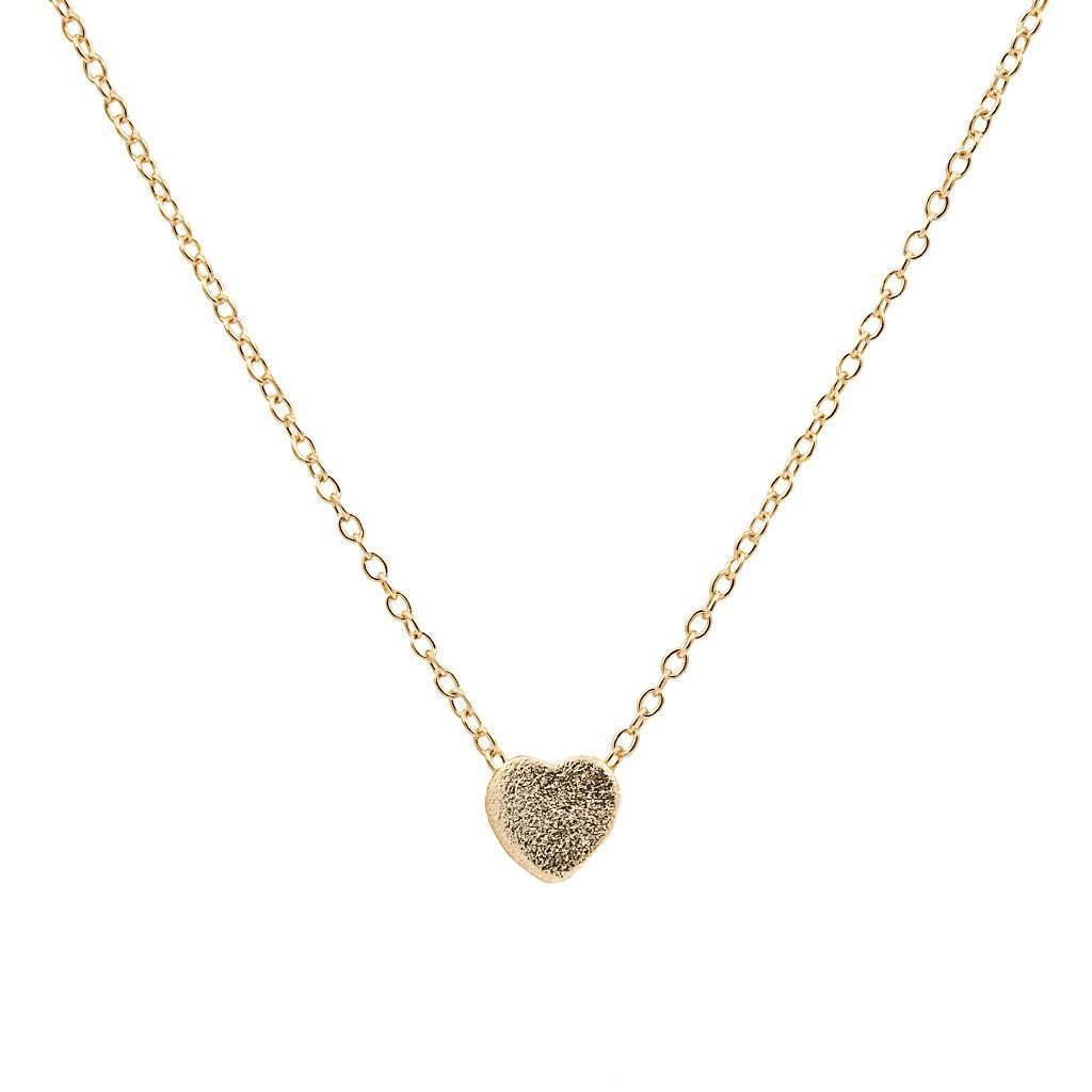 Halskette gold mit Anhänger in Form eines Herzes