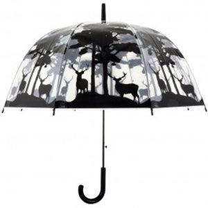 Esschert Design Paraplu transparant bos