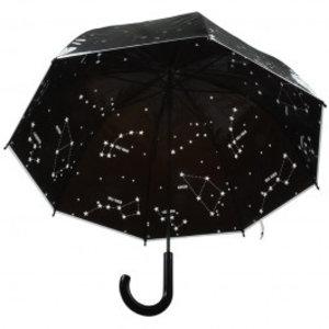 Esschert Design Paraplu transparant sterrenhemel