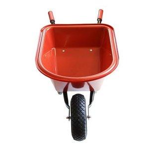 De Wiltfang  Kinderkruiwagen kunstof rood