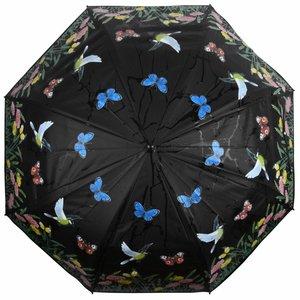 Esschert Design Kleur veranderende paraplu met vogelprint