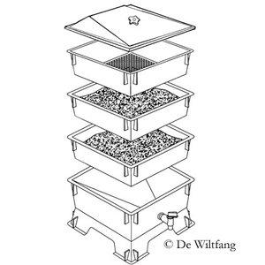 De Wiltfang  Wormtoren met 3 bakken