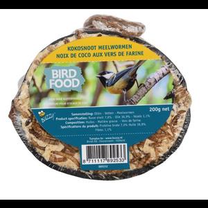 Buzzy Birds Halve Kokosnoot Meelworm 200gram - 6 STUKS
