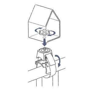 Emsa Landhaus houder/balkonrailing