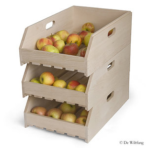 De Wiltfang  Fruitkistje stapelbaar, beukenhout