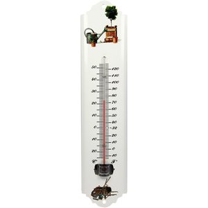Talen Tools Thermometer metaal wit 30 cm