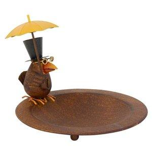 Meuwissen Agro Vogelbad Vogel m/paraplu metaal