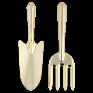 Esschert Design Gouden Tuingereedschap - set van 2 st.