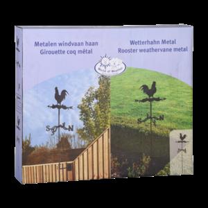 Esschert Design Metalen windvaan Haan met grondpin