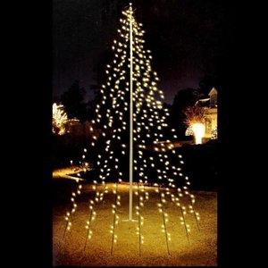 Lumineo Vlaggenmast Kerstboom 360LED -  8 meter