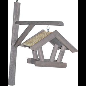 Lantaarn vogelvoederhuis met dak van stro
