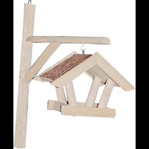 Lantaarn vogelvoederhuis met tenen dak