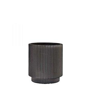 Capi Europe Bloempot Vaas Cilinder Groove Indoor - 19 x 21 cm