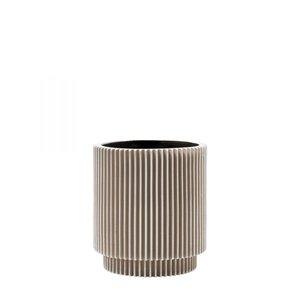 Capi Europe Bloempot Vaas Cilinder Groove Indoor - 15 x 16 cm