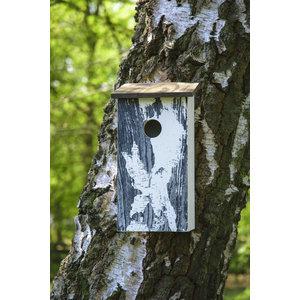 Dobar Wildlife Nestkast Klassiek met Berkenboomschors print