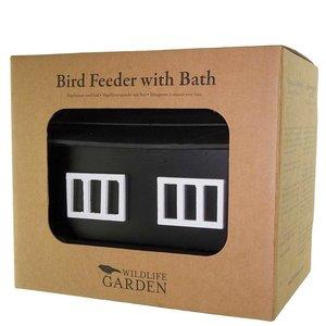 Wildlife Garden Vogelvoederhuis met bad Zwart - WG355