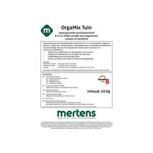 OrgaMix Tuin 8-4-12+4 MgO 20 kg +zeewier met HF