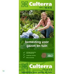 Culterra Groen 10+4+6 25KG Organische Mestkorrel