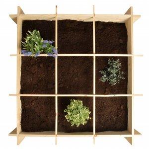 Esschert Design Vierkante meter moestuin bak