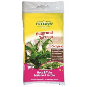 ECOstyle Potgrond Cocopeat Huis & Tuin 40L - 15kg