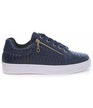 Manzotti Gioaccino Lage Crocodile Sneaker Navy