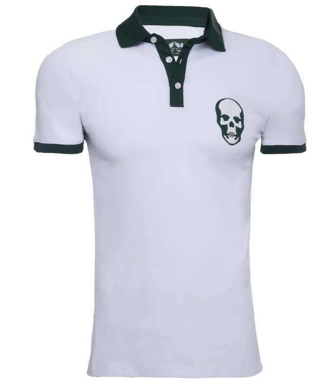 Pascucci Armando Polo shirt  Skull  Wit