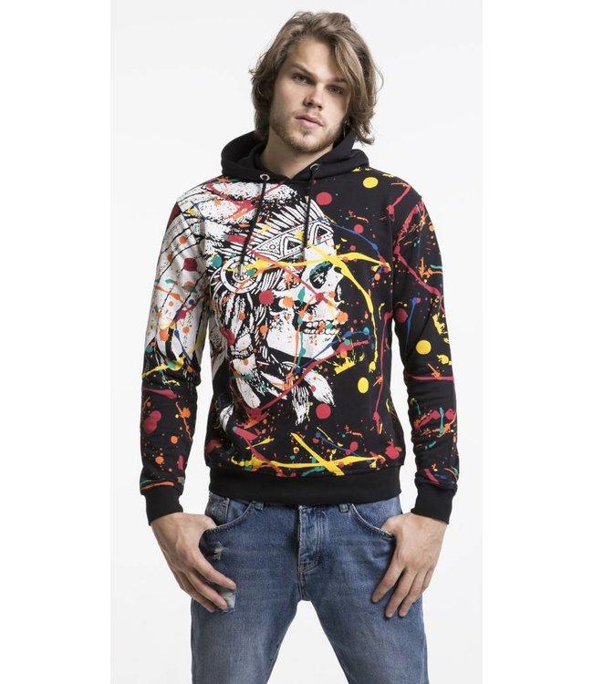 Pascucci Cristiaan Skull Sweater - Zwart
