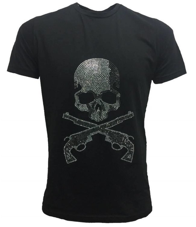 DJ White Skull Gun T-Shirt