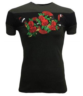 Hite Couture Mixer Stretch Slim Fit T-Shirt - Kaki