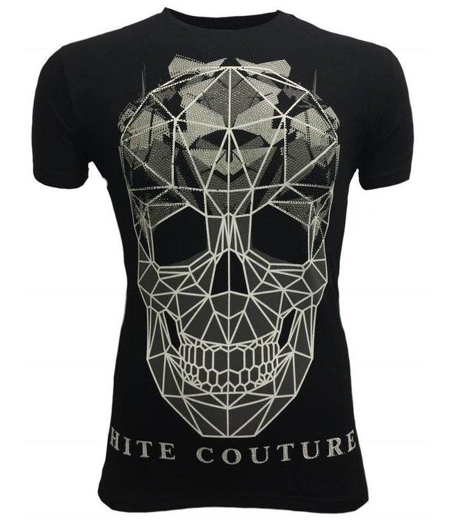 Hite Couture Muter Stretch Slim Fit T-Shirt - Zwart