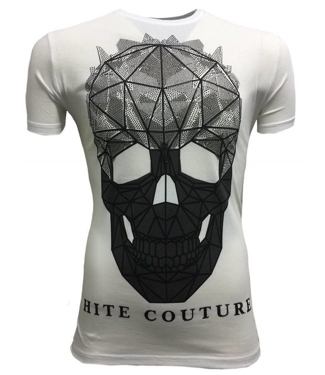 Hite Couture Muter Stretch Slim Fit T-Shirt - Wit