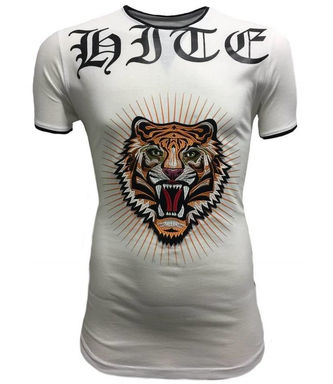 Hite Couture Mezier Stretch Slim Fit T-Shirt - Wit