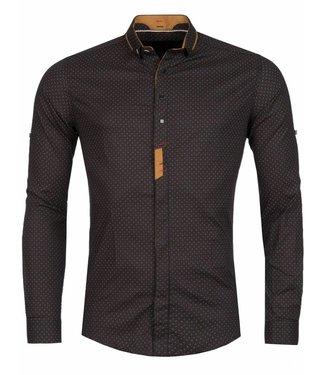 Young & Rich Overhemd Loko Bruin